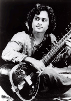 Krishna in his early twenties in a performance in Berkeley, California,